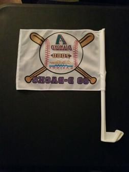 2000 Arizona Diamondbacks MLB 8X11 Window Mount Car Flag Vin