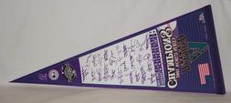 2001 Arizona Diamondbacks World Series Champs SIG Pennant