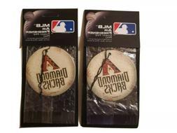 2x Arizona Diamondbacks *AIR FRESHENERS* MLB Licensed Forest