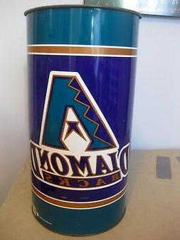 arizona diamondbacks 19 metal wastebasket trash can