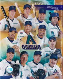 Arizona Diamondbacks 2003 Team Composite 8x10 Photo Luis Gon