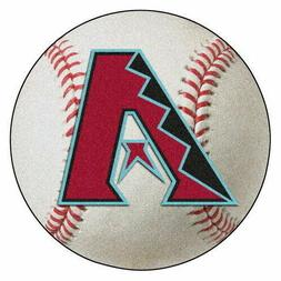 "Arizona Diamondbacks 27"" Baseball Shaped Area Rug Floor Mat"