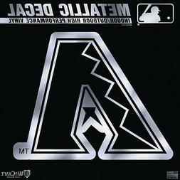 "Arizona Diamondbacks 6"" Silver Metallic DECAL Mirrored Style"