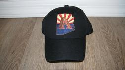 Arizona Diamondbacks black meshback trucker snapback hat sta