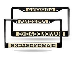 Arizona Diamondbacks Black Metal  Laser License Plate Frame