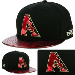 New Era Arizona Diamondbacks Black Topps Snapback Hat Metall