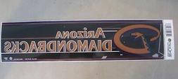 """Arizona Diamondbacks Bumper Sticker 3"""" X 12"""" New By Wincraft"""