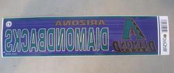 "Arizona Diamondbacks Bumper Sticker 3"" x 12"" MLB Licensed Ne"