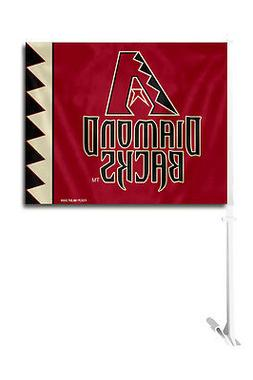 Arizona Diamondbacks Car Flag with Pole  MLB Auto Truck Tail