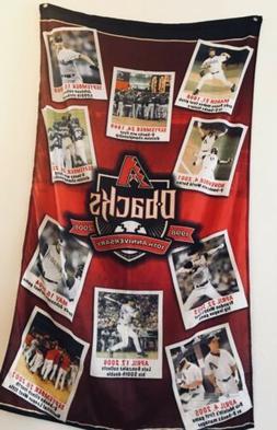 Arizona Diamondbacks cloth banner 1998-2008 10th Anniversary