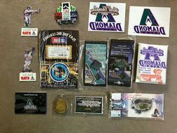 Arizona Diamondbacks Collectibles Box. Pins, Cards, Poker Ch