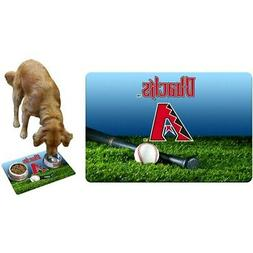 Arizona Diamondbacks Field & Bat Pet Bowl Mat