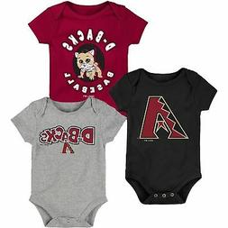 Arizona Diamondbacks Infant Everyday Fan Three-Pack Bodysuit