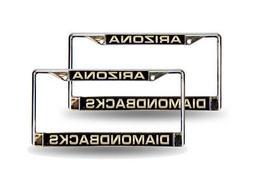 Arizona Diamondbacks Laser Chrome Metal License Plate Frame