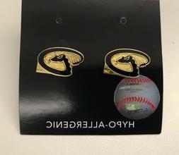 Arizona Diamondbacks Logo Stud Post Earrings w/ Free Gift
