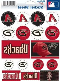 Arizona Diamondbacks  ~ Lot of  Stickers ~ 5x7 Inch Sheet