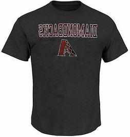 Arizona Diamondbacks  Majestic Mens Straight T Shirt Charcoa
