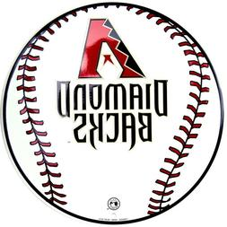 "Arizona Diamondbacks MLB Baseball 12"" Round Metal Sign Sport"
