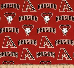 Arizona Diamondbacks MLB Cotton Fabric-$8.99/yard