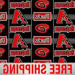 MLB Baseball Fleece Arizona Diamondbacks Fabric, by The Yard