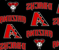 Arizona Diamondbacks MLB Fleece Fabric - Style# 6680