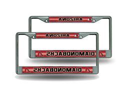 Arizona Diamondbacks MLB Glitter Bling  Chrome License Plate