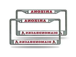 Arizona Diamondbacks MLB  Chrome Metal License Plate Frames