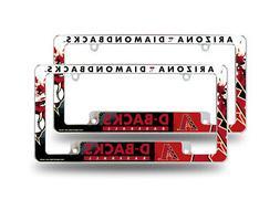 Arizona Diamondbacks MLB  Metal License Plate Frames with Bo