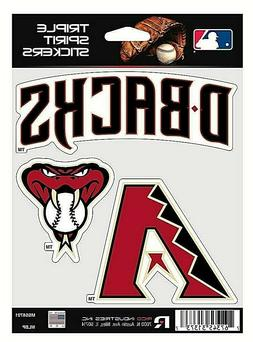 Arizona Diamondbacks MLB Triple Spirit Stickers / Decals  3