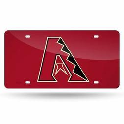 Arizona Diamondbacks Red Laser License Plate