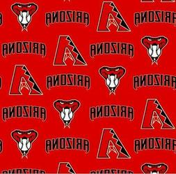 Arizona Diamondbacks Red MLB Baseball Sports Cotton Fabric P