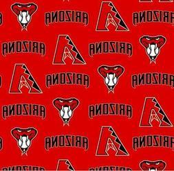 Arizona Diamondbacks Red MLB Baseball Sports Cotton Fabric P