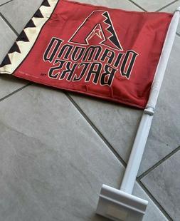 Arizona Diamondbacks TWO SIDED CAR FLAG * FREE SHIPPING *
