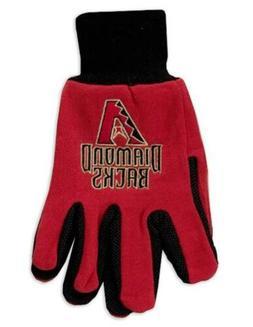 Arizona Diamondbacks Two Tone Pair GRIP Gloves Sport Work Ut