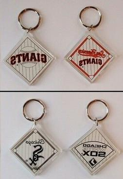 Choose Your Team MLB Set of 2 Pack Key Chains Ring New Doubl