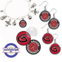 FREE DESIGN > ARIZONA DIAMONDBACKS -Earrings, Pendant, Charm