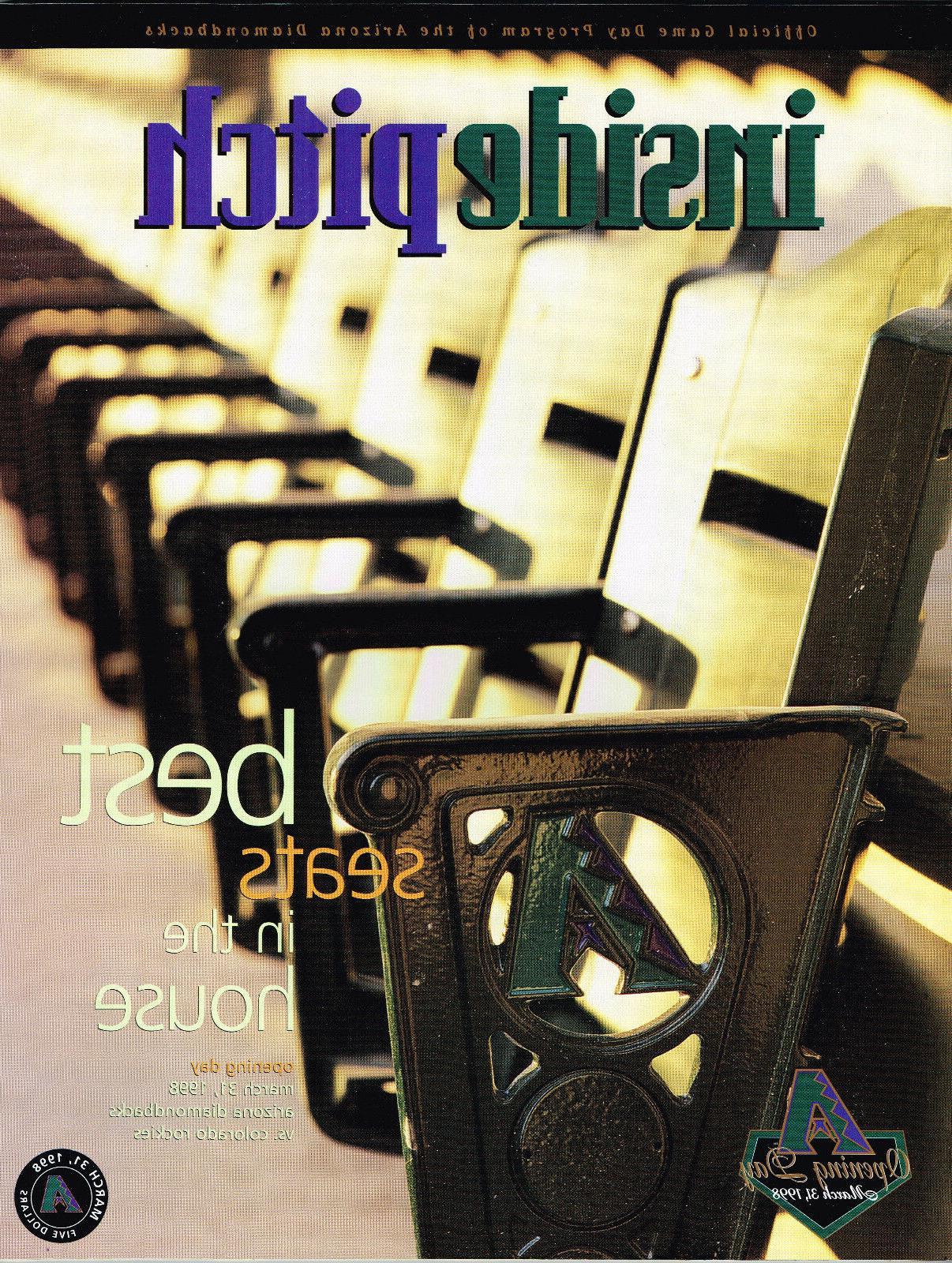 1998 arizona diamondbacks inside pitch magazine dbacks