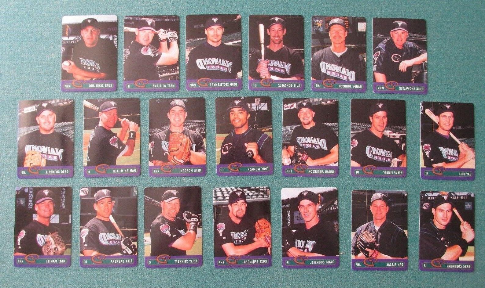 2000 arizona diamondbacks keebler baseball card set