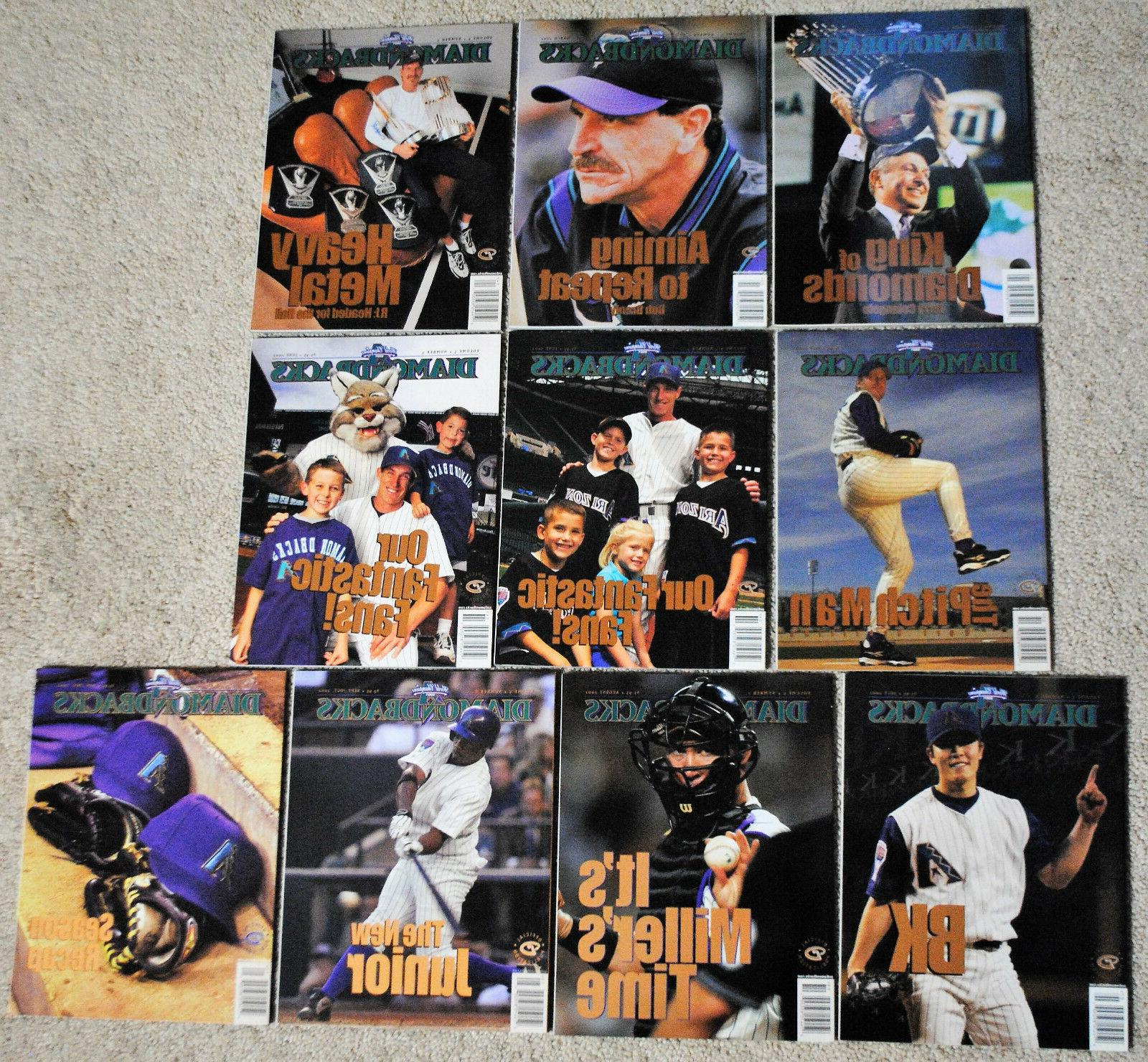 2002 arizona diamondbacks magazine dbacks mlb baseball