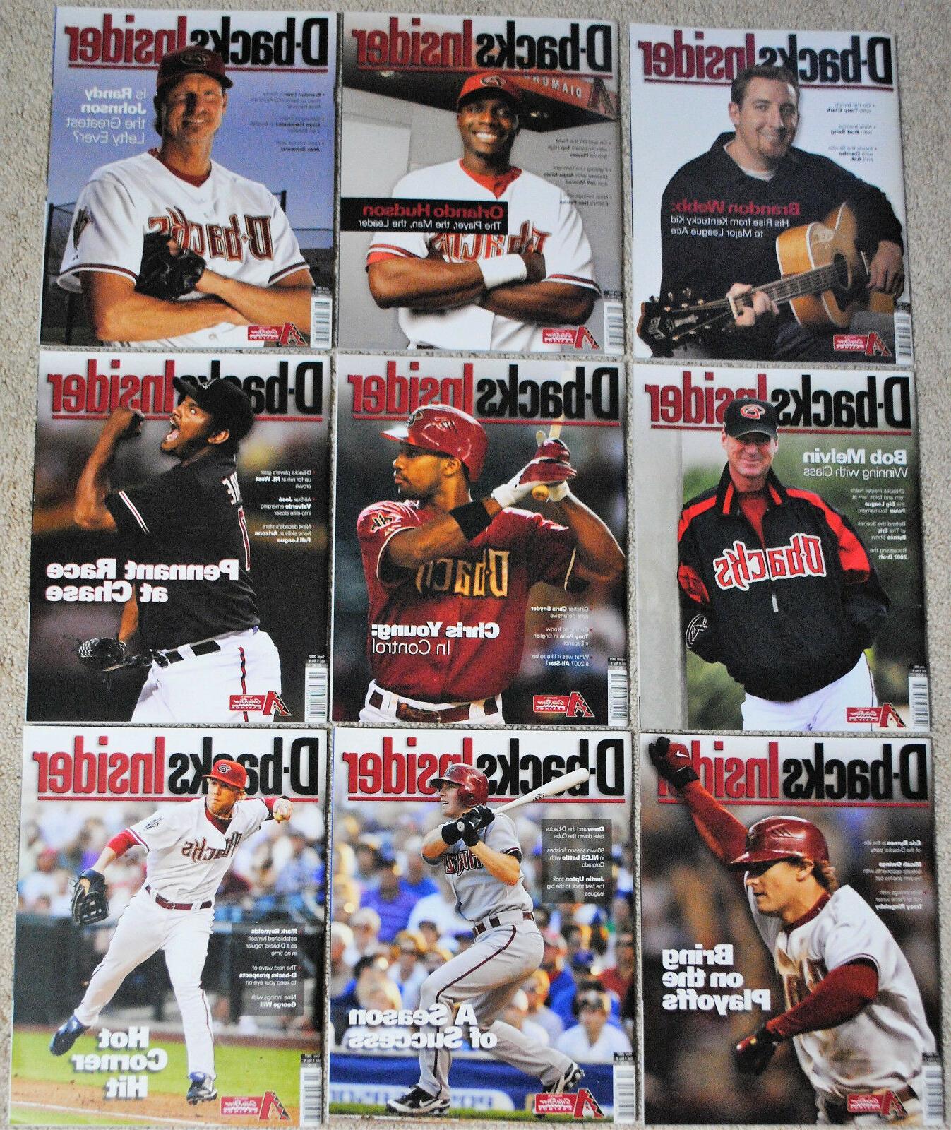 2007 arizona diamondbacks insider magazine dbacks mlb