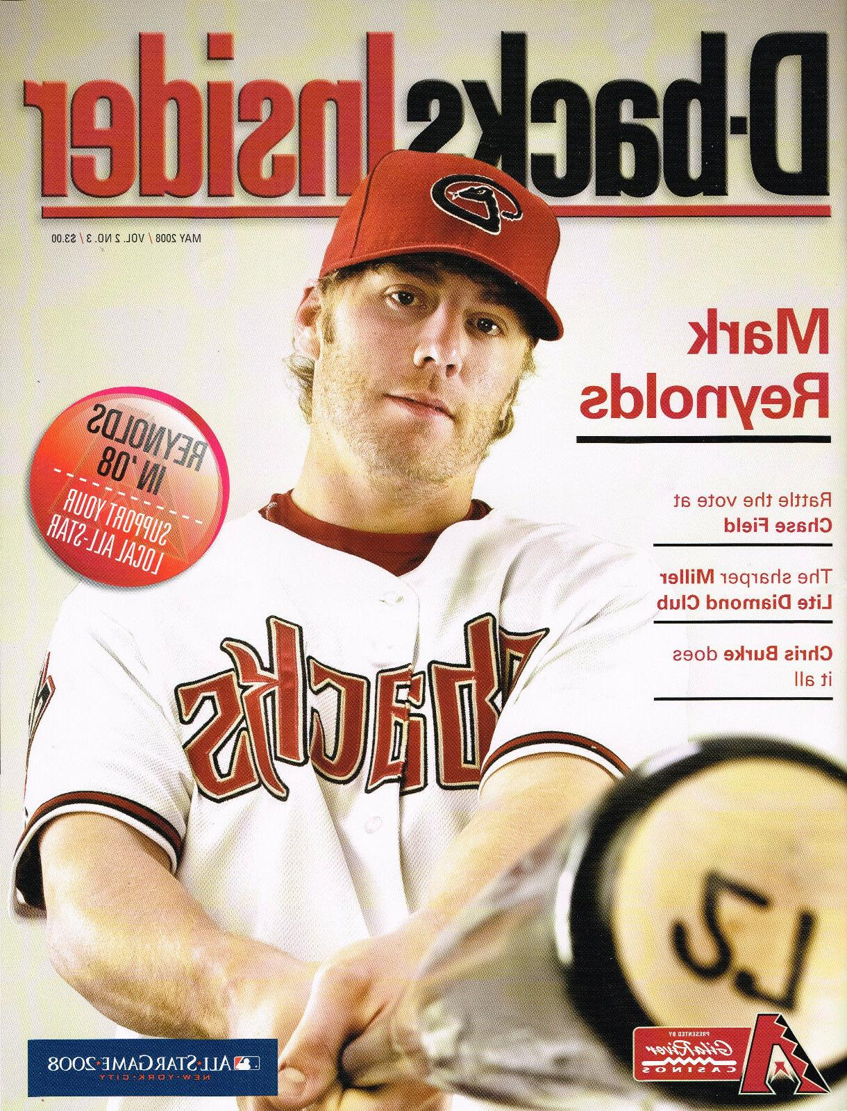 2008 Diamondbacks Insider Magazine Dbacks -