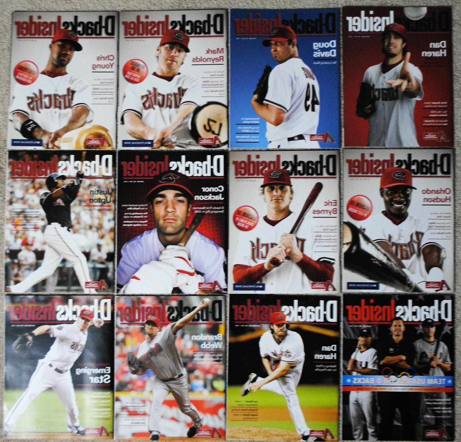 2008 arizona diamondbacks insider magazine dbacks mlb