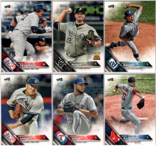 2016 topps baseball series 2 base set
