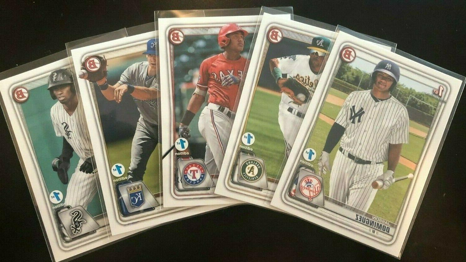2020 bowman 1st edition single cards complete