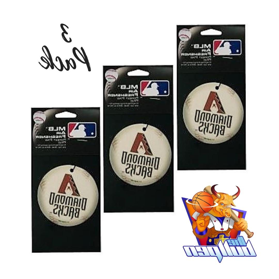 3x arizona diamondbacks air fresheners licensed forest