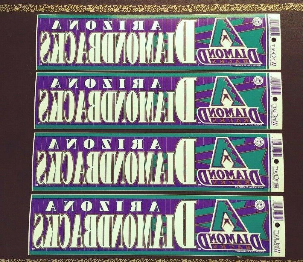 4 vintage arizona diamondbacks bumper sticker lot
