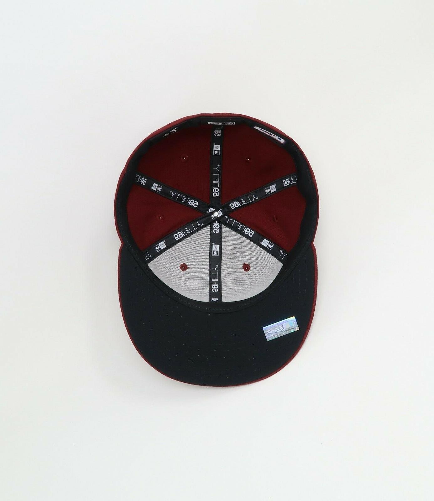 New Hat MLB Arizona Alternate Burgundy Fitted Cap
