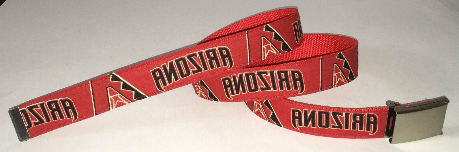 arizona diamondbacks belt and buckle baseball fan