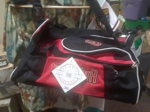 arizona diamondbacks black red duffle equipment tote