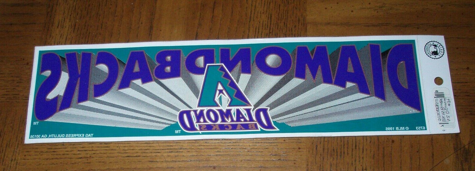 vintage arizona diamondbacks bumper sticker the purple